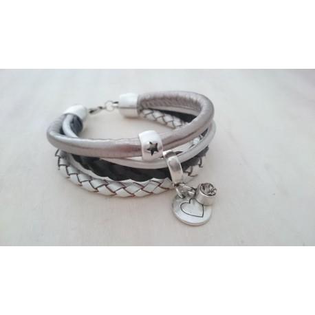 Bruin met Ivoorkleurige armband