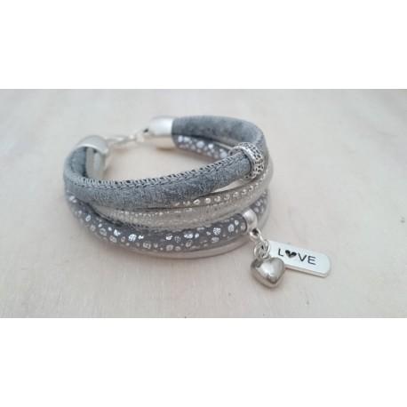 Zilverkleurige armband