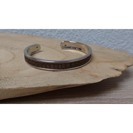 Metalen bangle armband