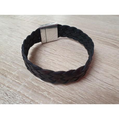 Leren armband met magneetsluiting