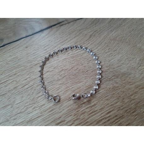 RVS Brass armbandje zilverkleur
