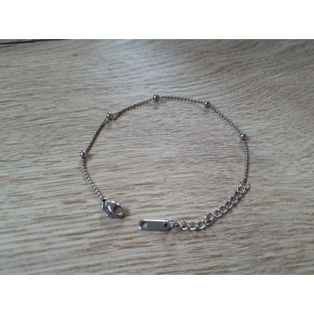RVS armbandje in zilverkleur