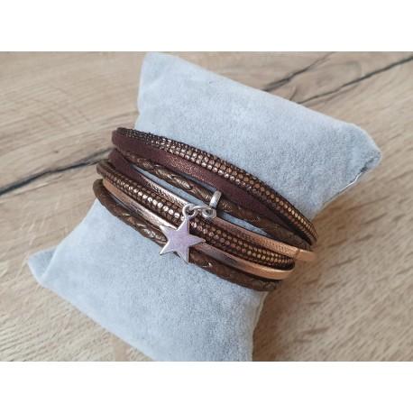 Bruin-/koperkleurige armband