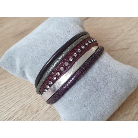 Bordeauxrode armband