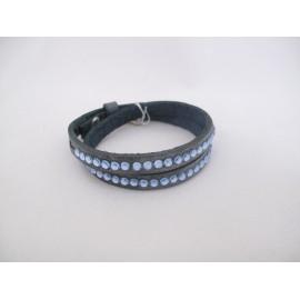 Dubbele donkerblauwe armband