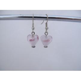 Roze oorbellen